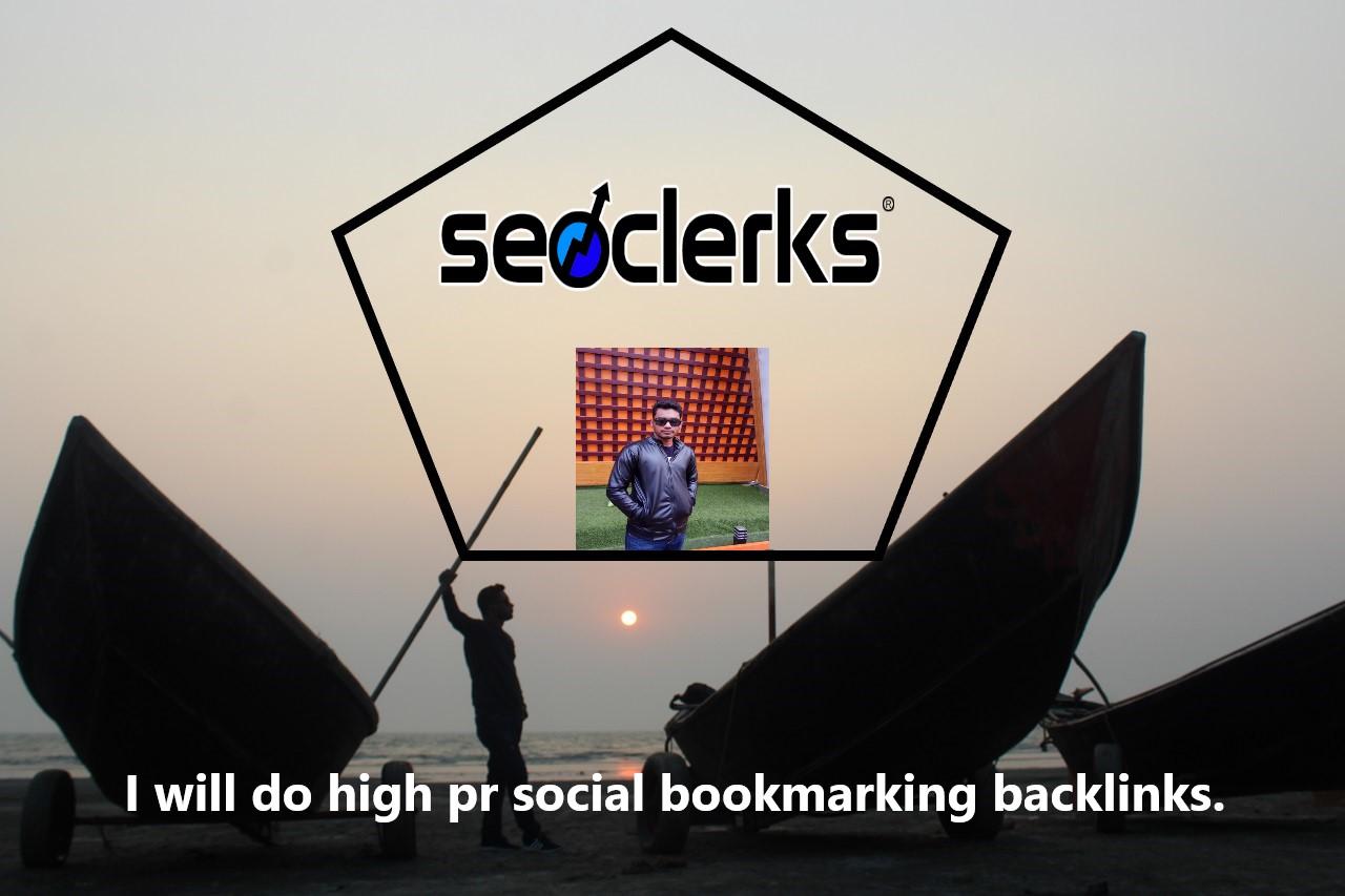 I will do high pr social bookmarking backlinks.