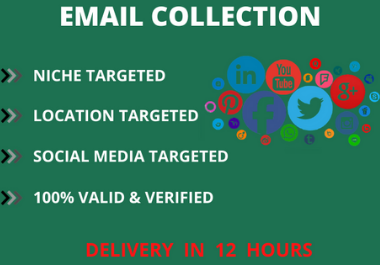 I will Collect targeted email list country base for business
