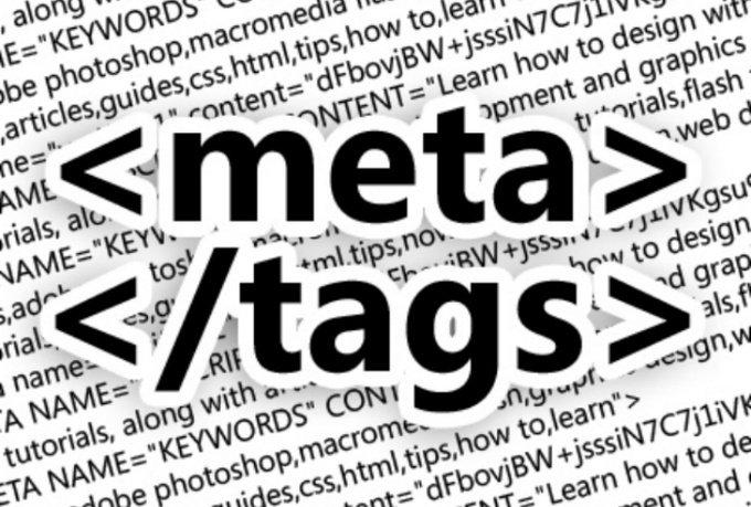 Write keyword reach meta tags for website 1 page