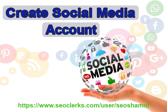 I will create and set up 10 social media account for your business