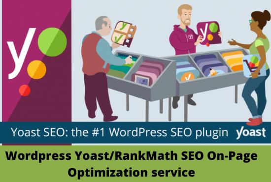 I will do completely wordpress yoast SEO on page optimization