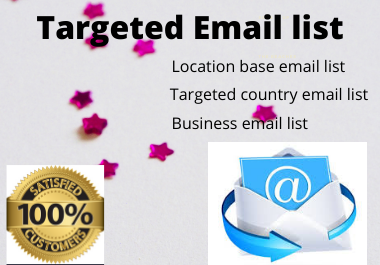 Provide you 1000 email list for your targeted marketing