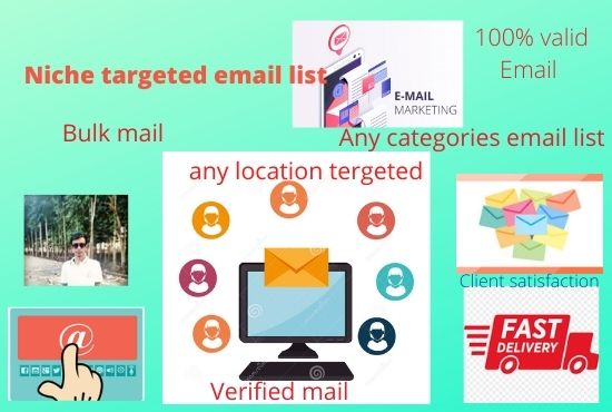 i will provide 10k bulk mail for your targeted email list