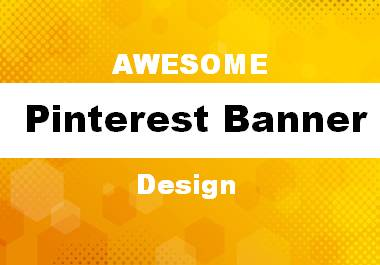 Awesome 2 pinterest banner design