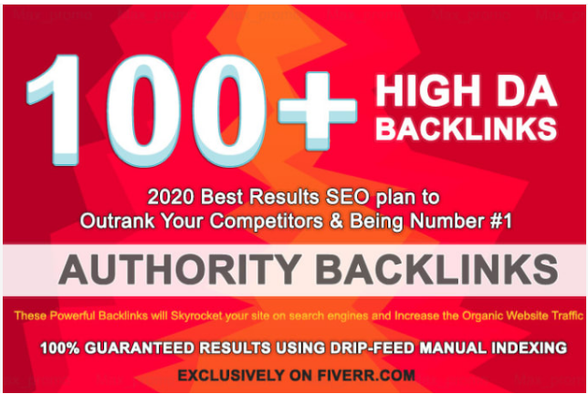 I will build 100 high da dofollow backlinks