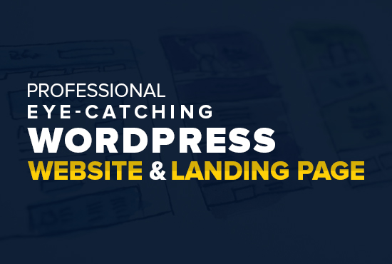 Create Professional WordPress Website or Landing Page Using Elementor