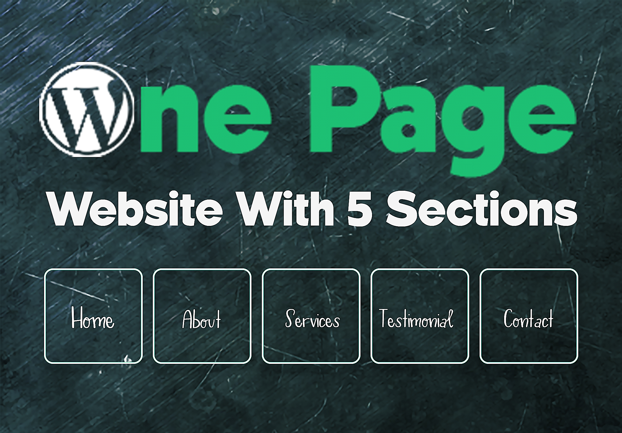 WordPress One Page Website With 5 Sections