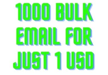 I will supply 1000 bulk email for your business campaign