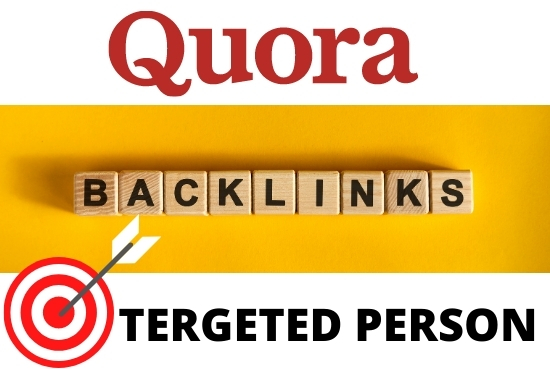 Niche related standard 20 quora answer with your website link