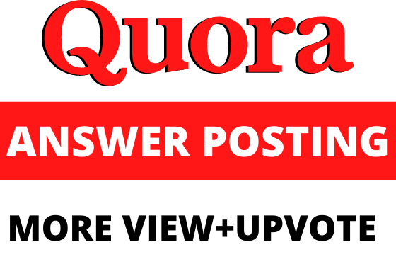 Niche related standard 10 quora answer with your website link