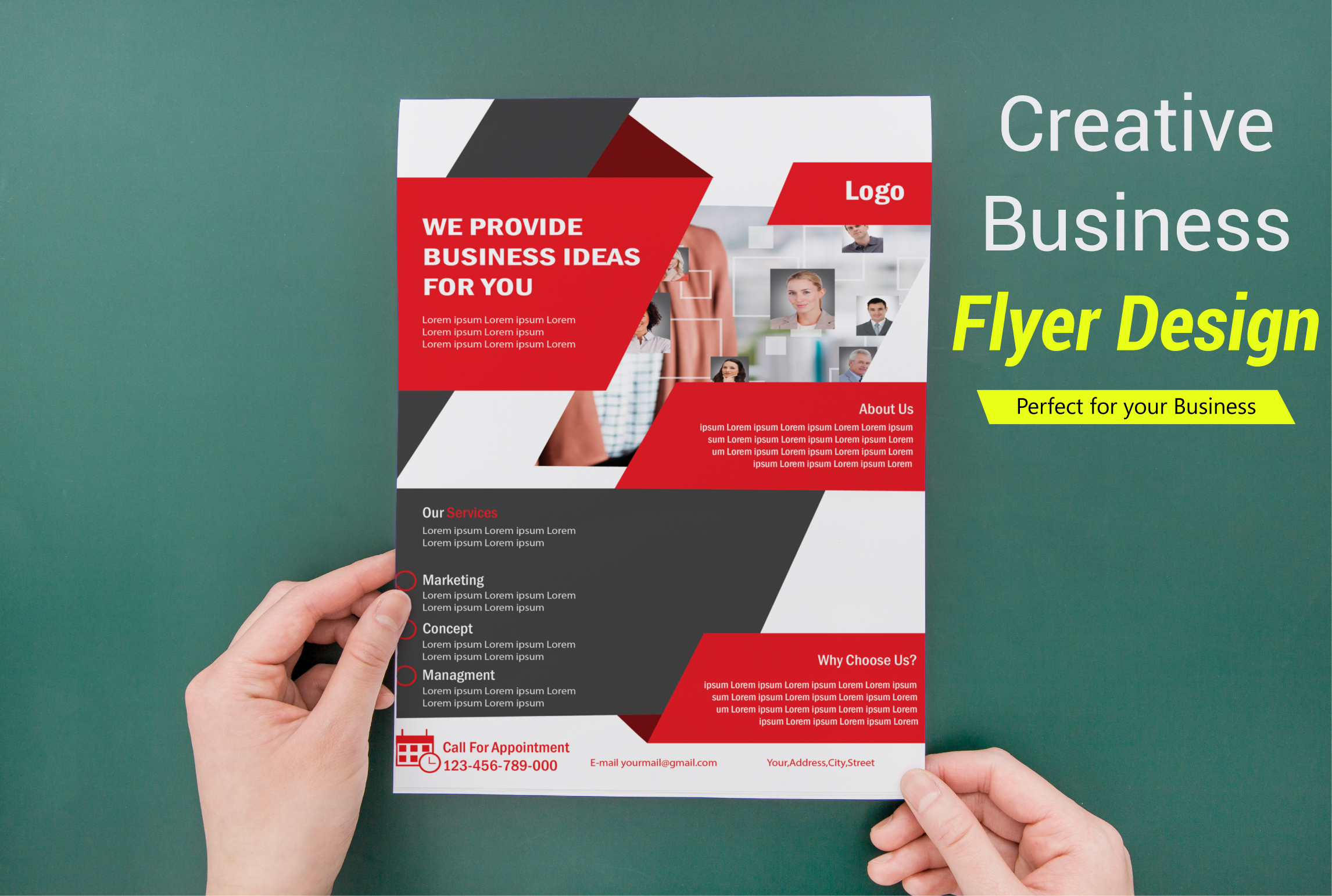 I will make creative and professional flyer for your business