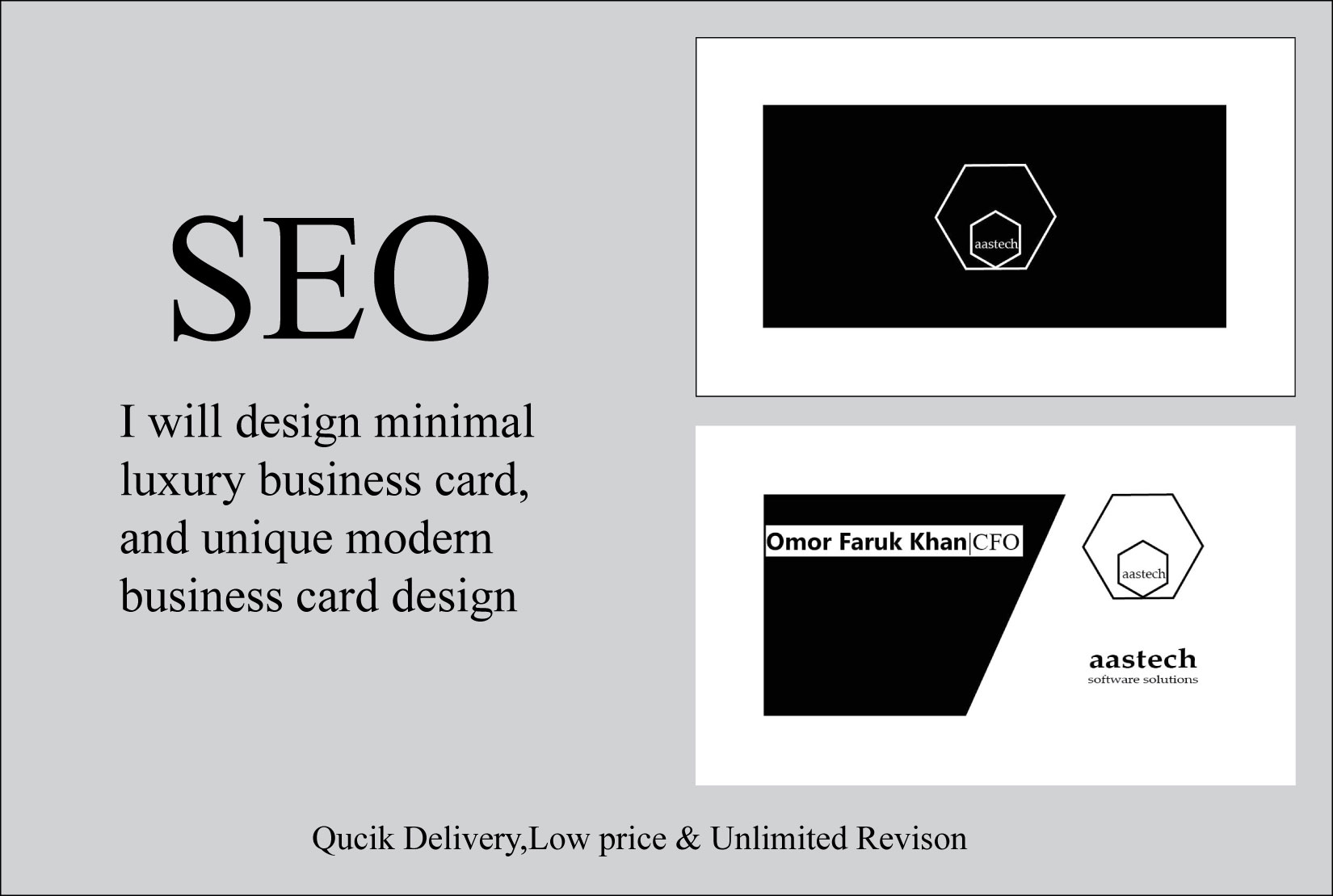 I will make awesome and professional business card for you