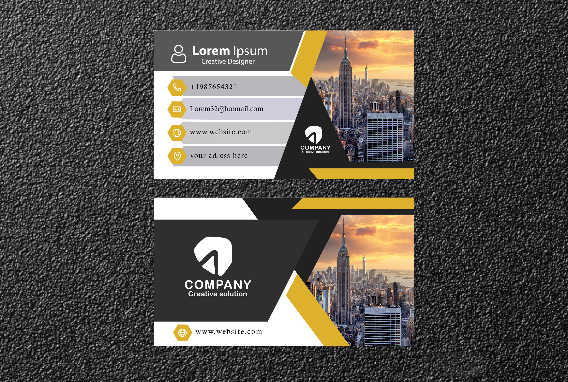 I will make Standard,  professional,  minimalist,  luxury Business Card for You within 24 hour.