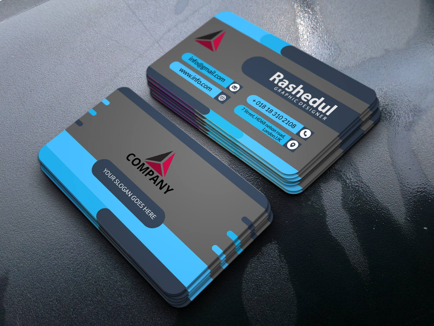 I will design Minimalist,  standard or Luxury Business card for you