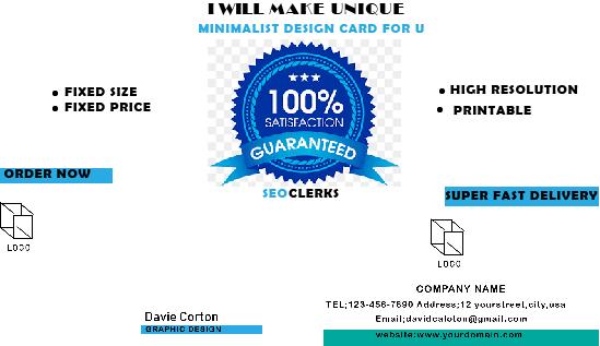 I will make stylish business card