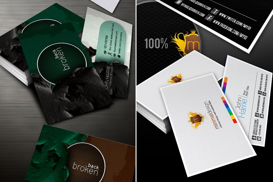 I will give you 130 template Business Card