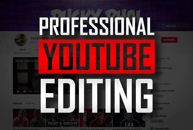 I do a professional a video editing