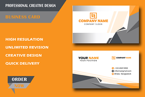 I will do new professional business card for you