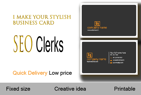 I will do stylish and professional business card design for you