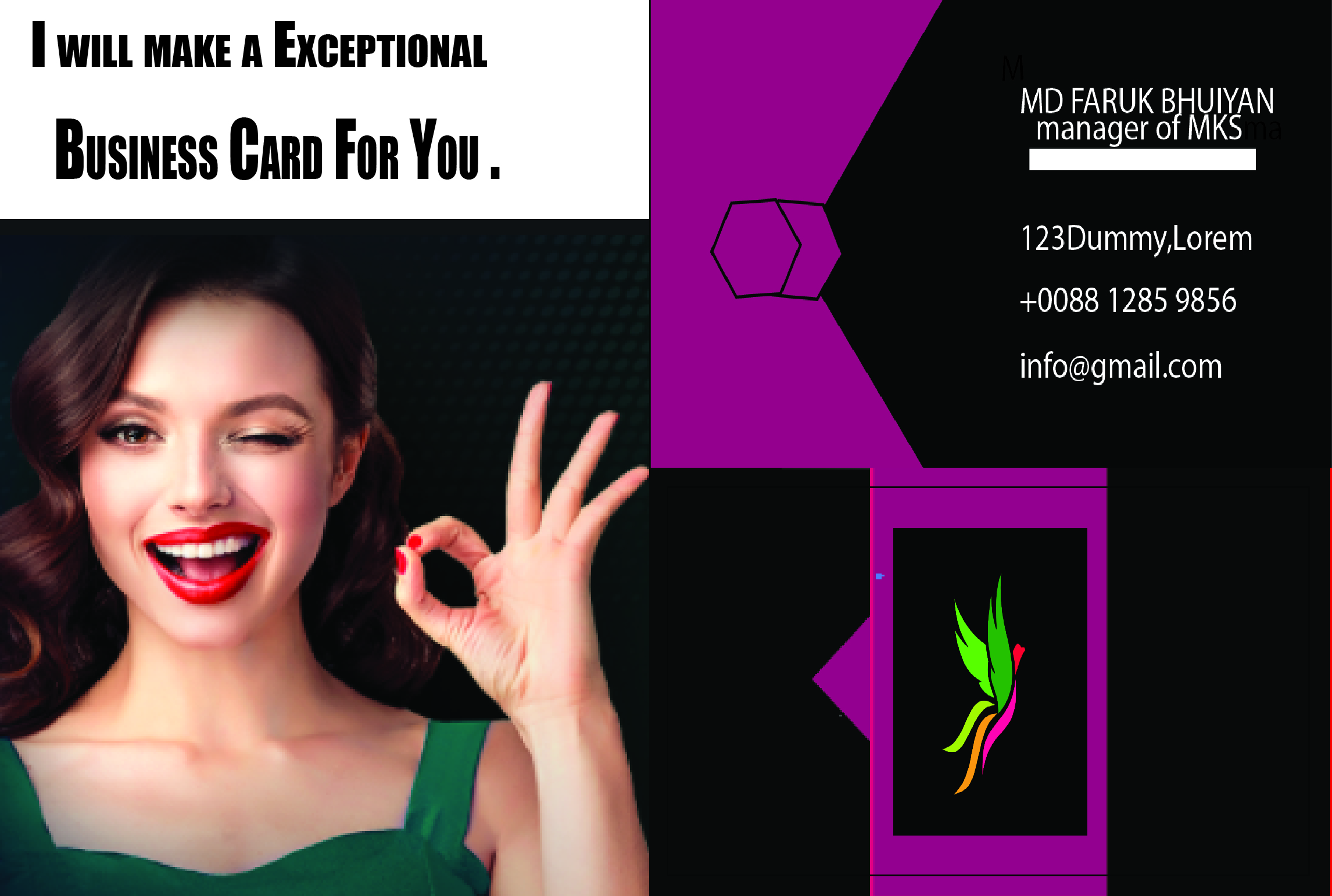 i will make a exceptional business card for you.