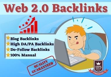 I will do 50+ Web2.0 Dofollow Backlinks
