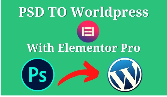 I will convert psd to wordpress responsive website With elementor pro