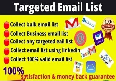 I will do 1000 any niche targeted email list for your email campaign