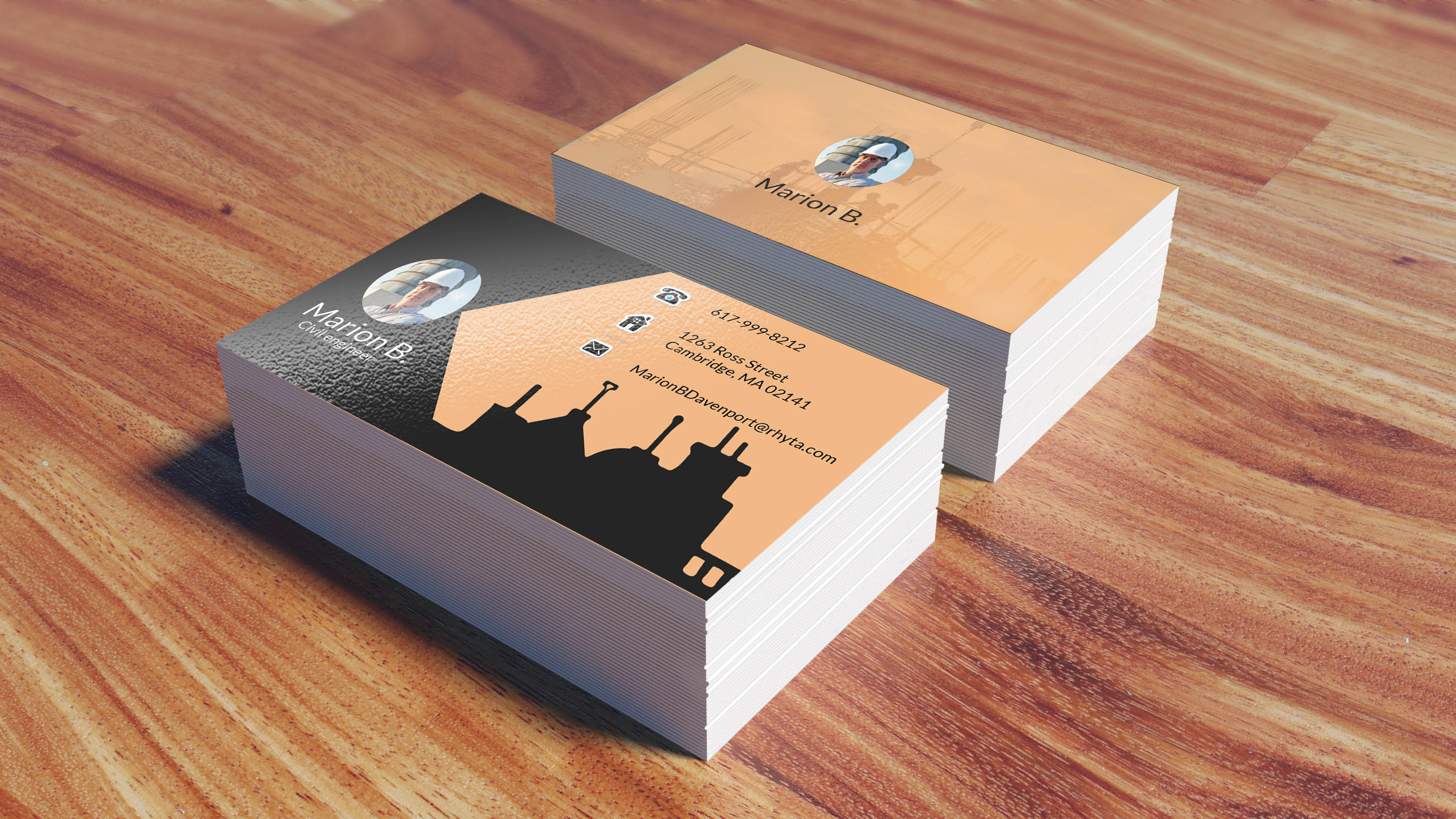 I will give you eyecatching business card with low cost