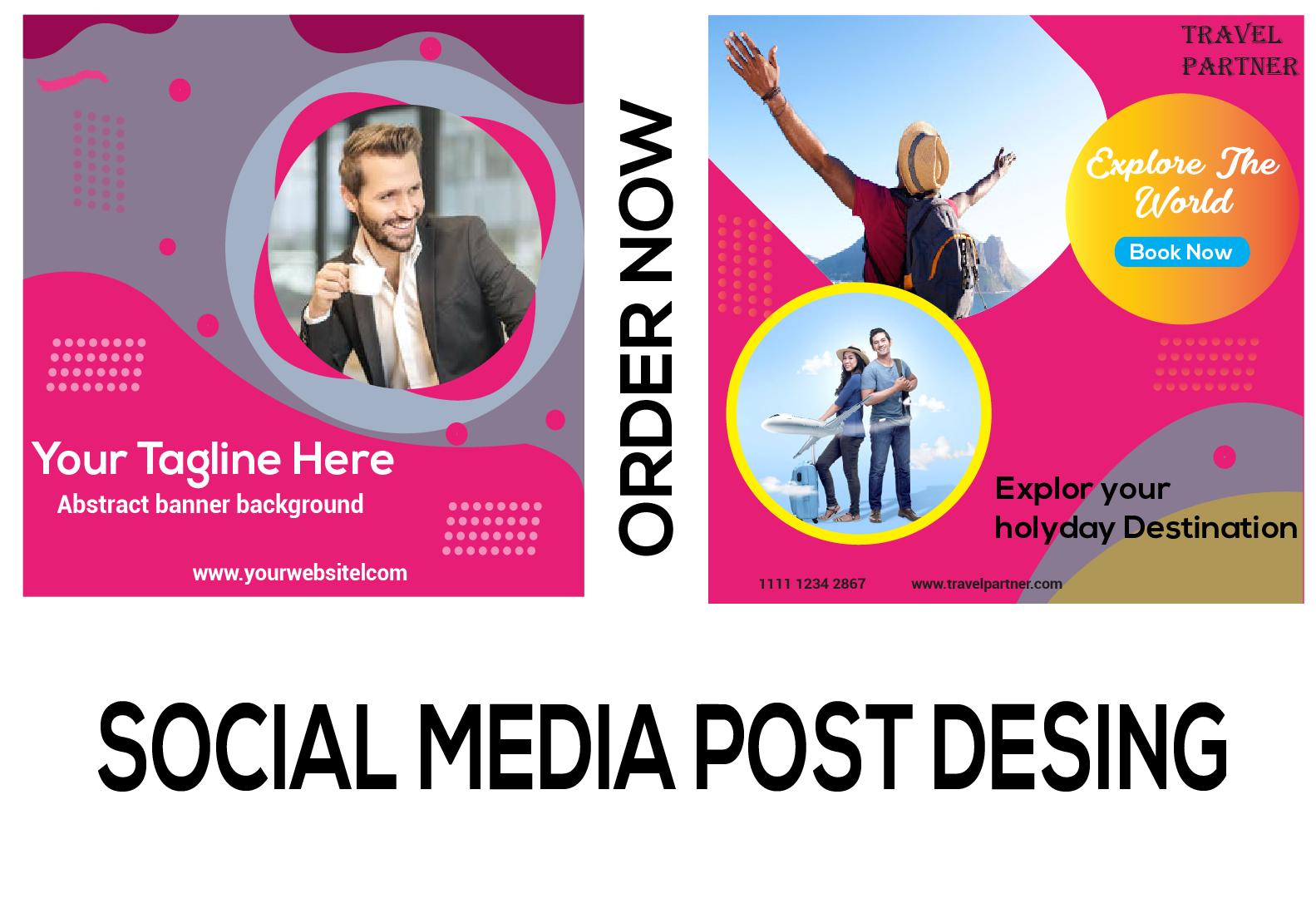 I will design facebook instagram post or ads,  social media banner