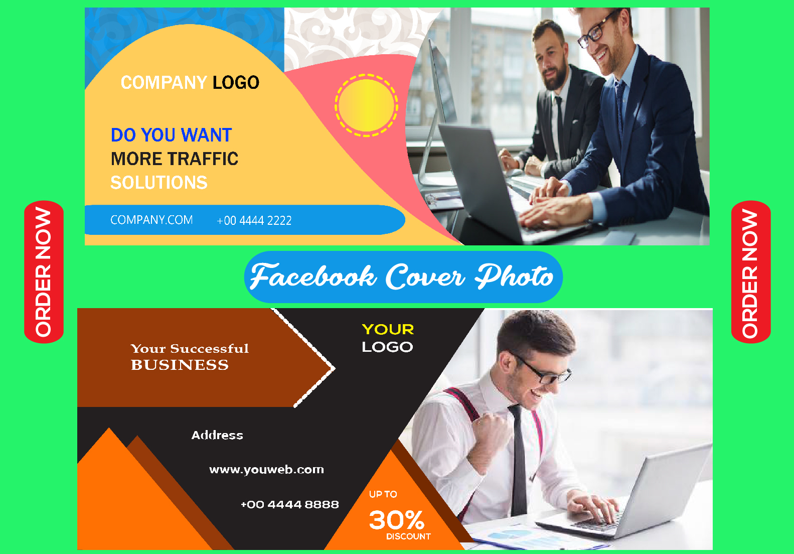 I will design attractive facebook cover photo and banner design