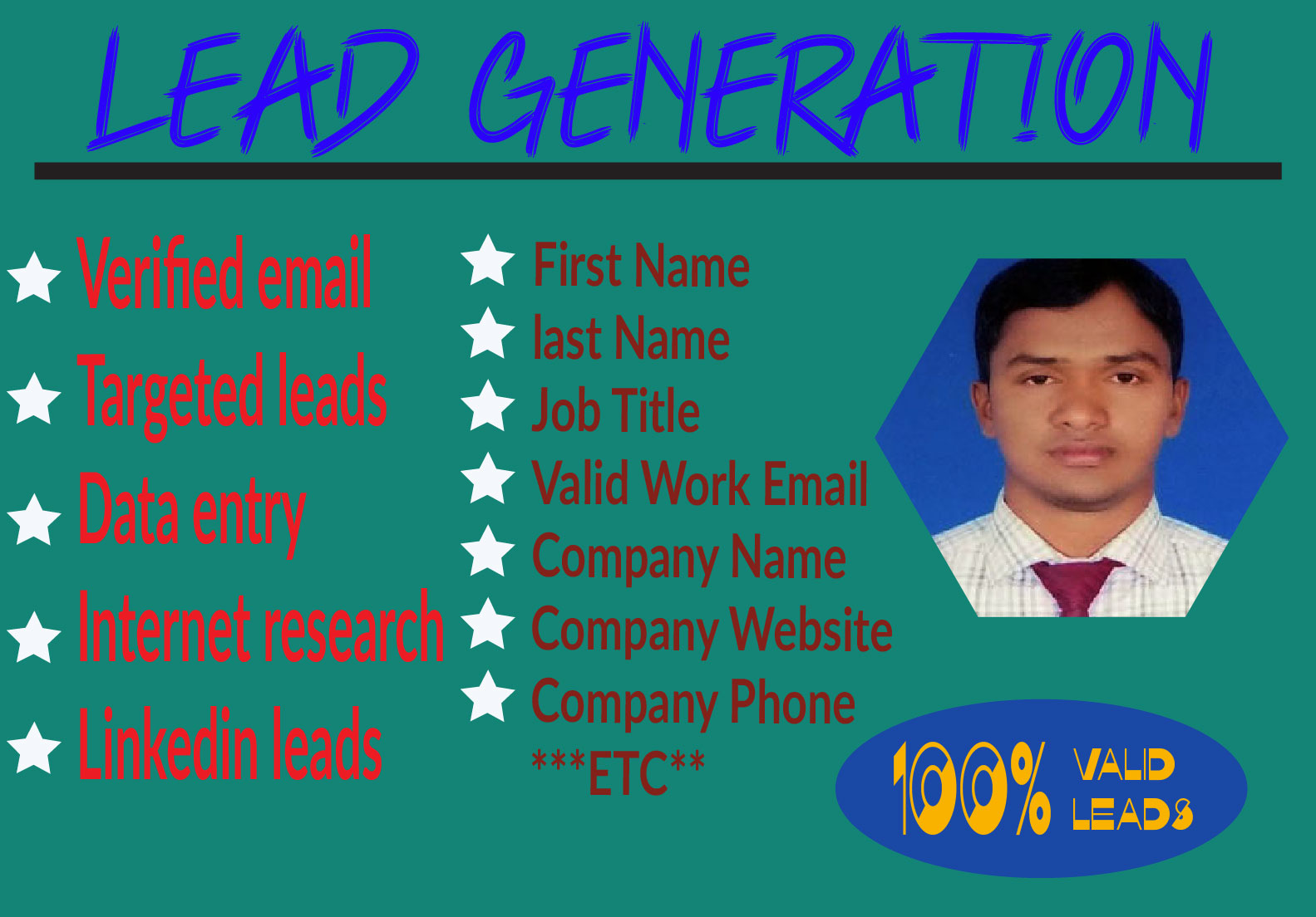 I will do focused on b2b lead age and LinkedIn lead generation