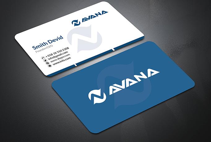 I Will do Professional Creative Minimalist Business Card Design