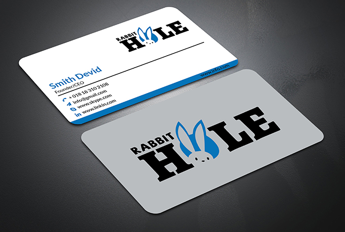 I Will do professional minimalist busineess card design