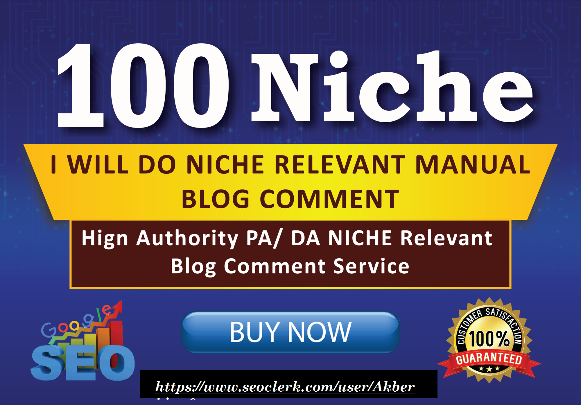 I will do 100 niche relevant blog comment backlinks low obl