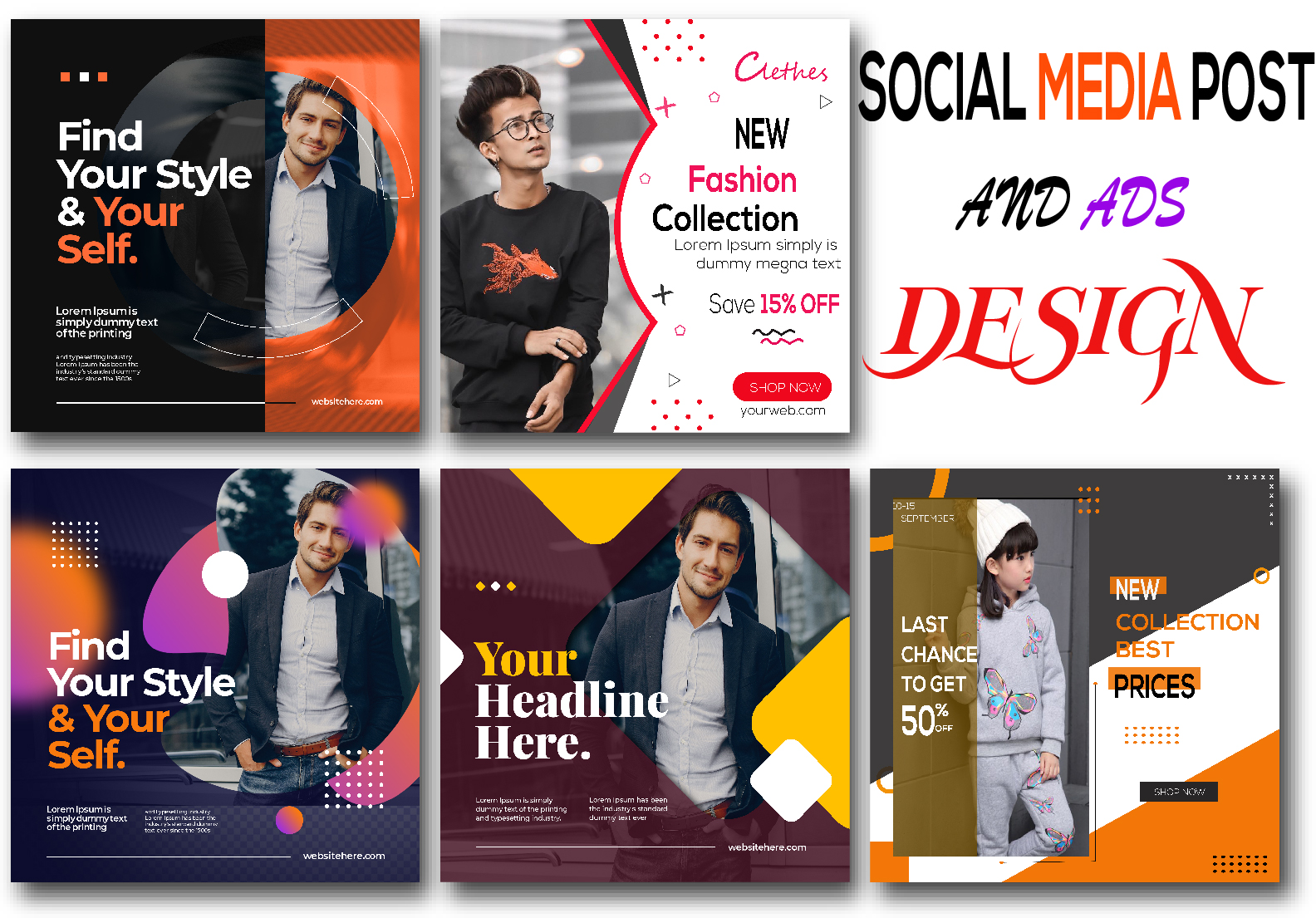 I will create attractive social media post design and ads