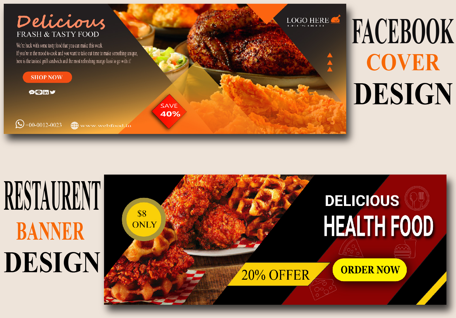 I Will design your Facebook cover or social media Ads