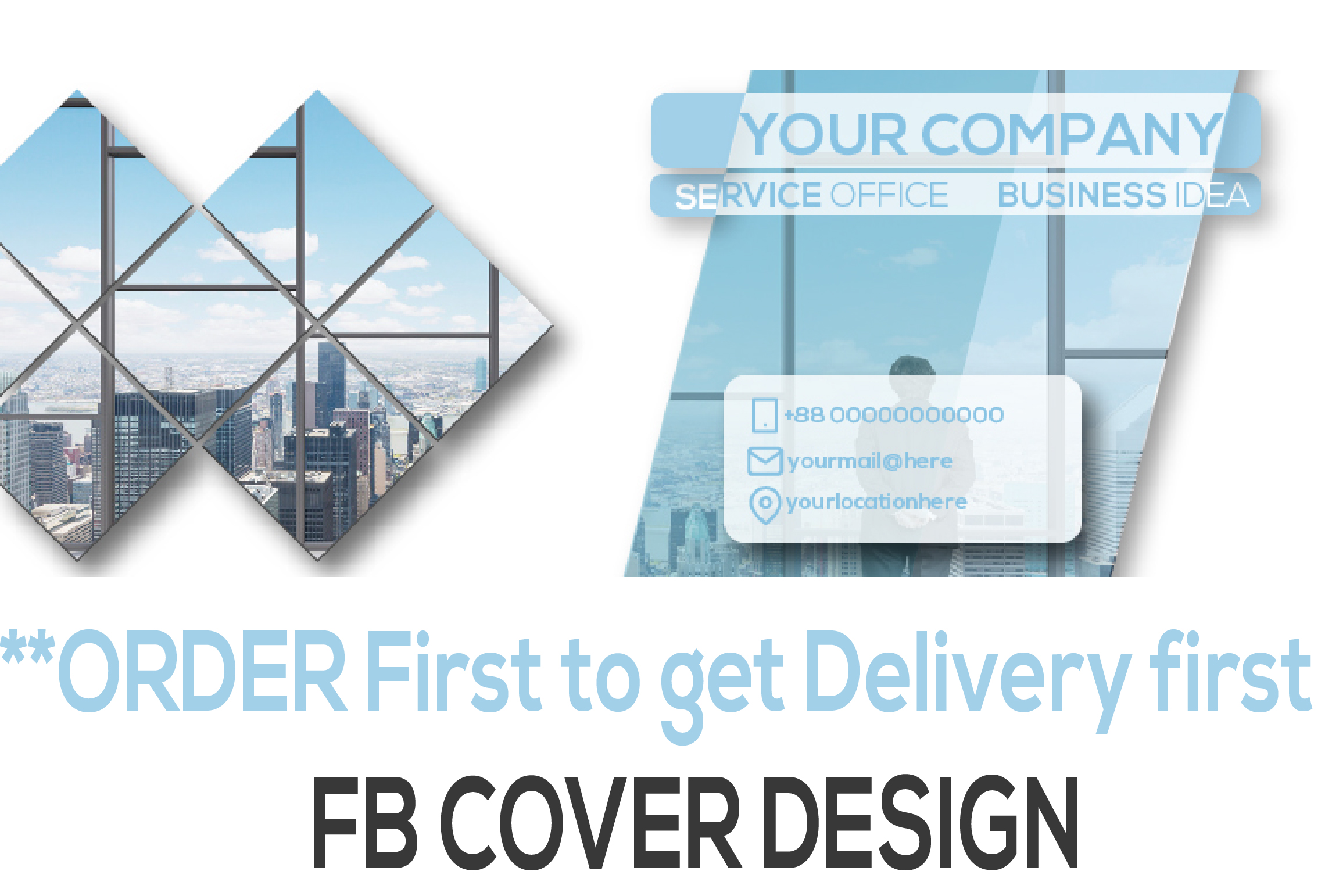 I will create professional facebook cover banner design