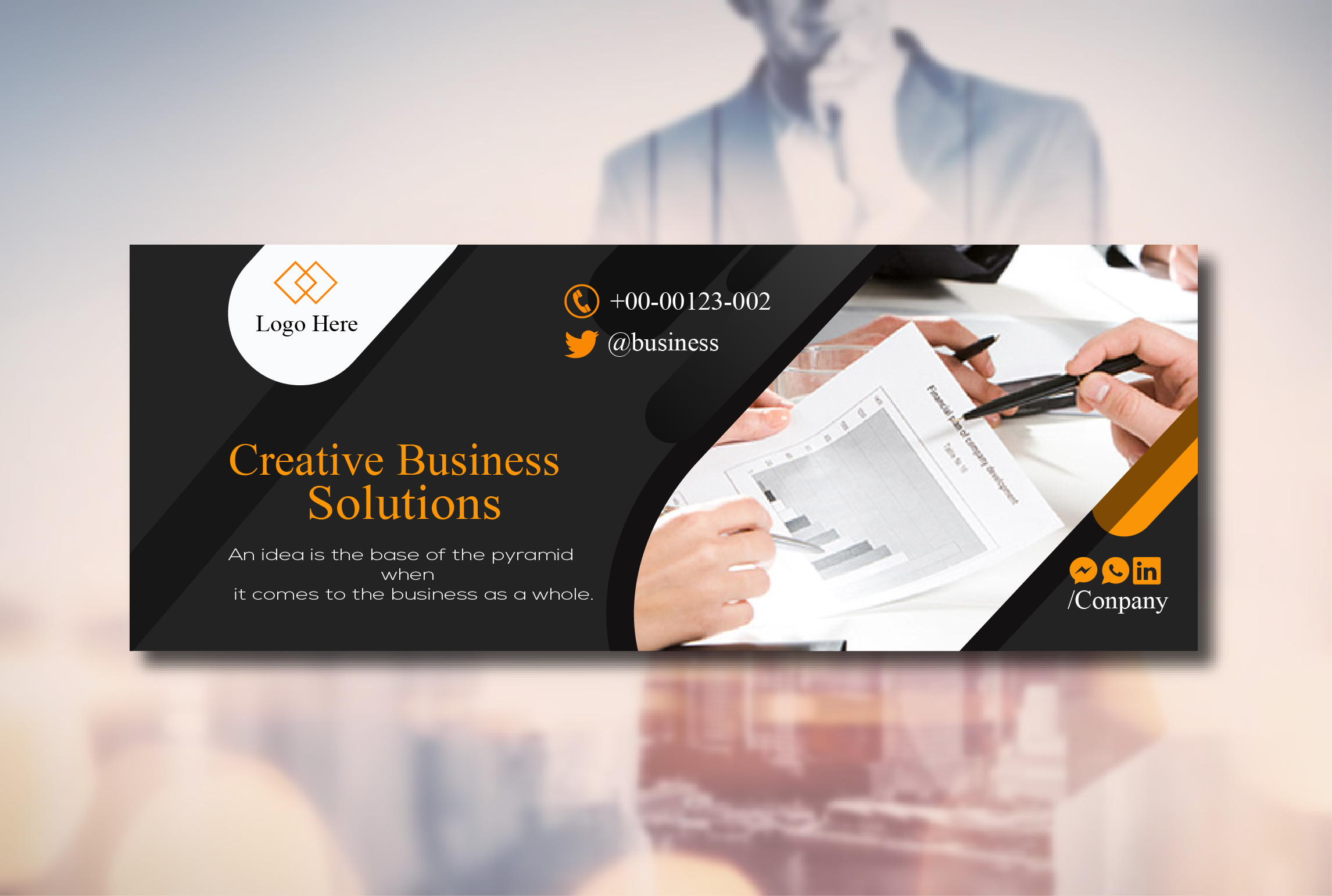 I will create a professional Facebook cover and banner design