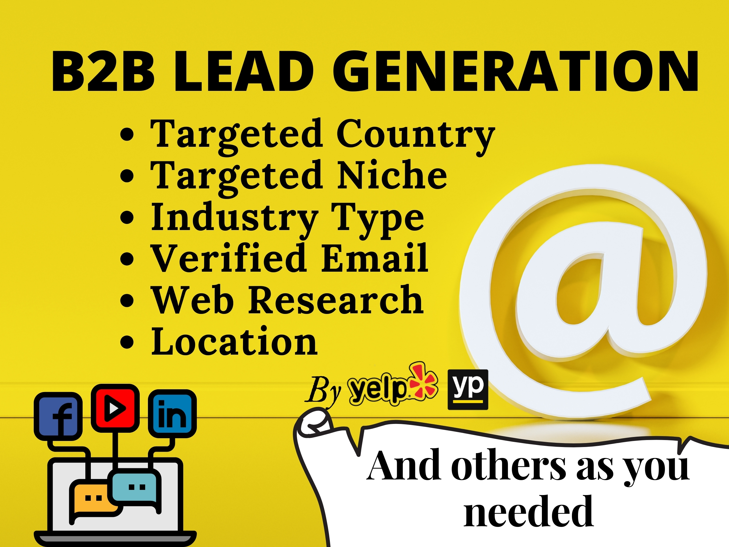 I Will Provide B2B 2k Lead Generation and Targeted Niche Based Email List