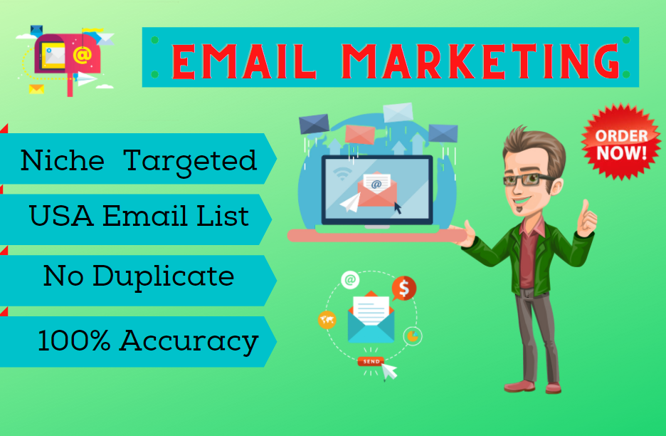 I will collect valid email list for targeted Niche or Title