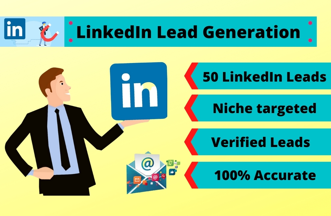 I will collect fifty niche targeted linkedin leads