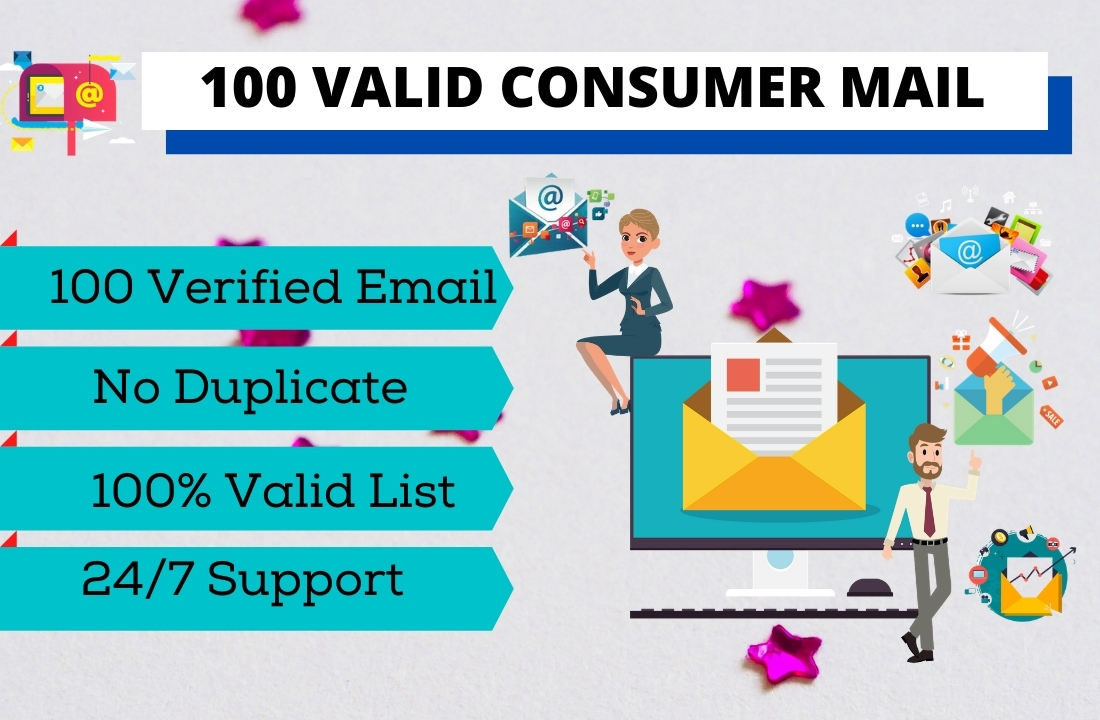 I will provide 100 verified consumer mail