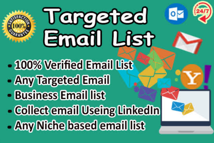 I will provide email list on targeted niche or country for you