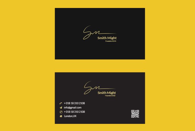 I will design minimal business cards