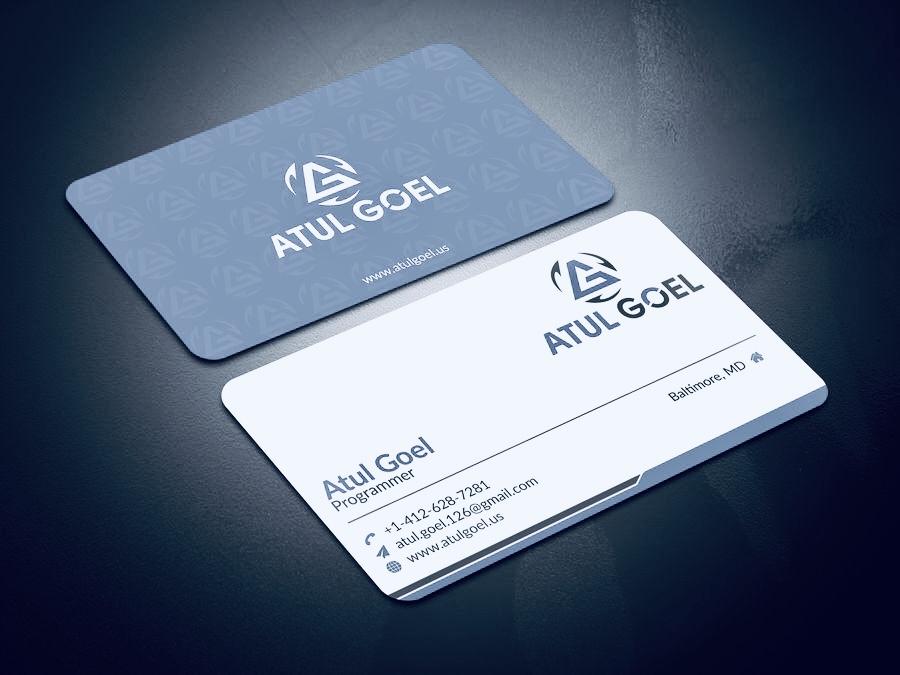 I will do modern business card design