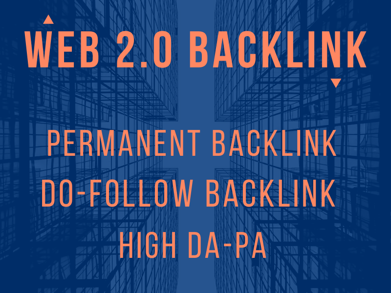 I will create 20 web 2 0 backlink with unique articles