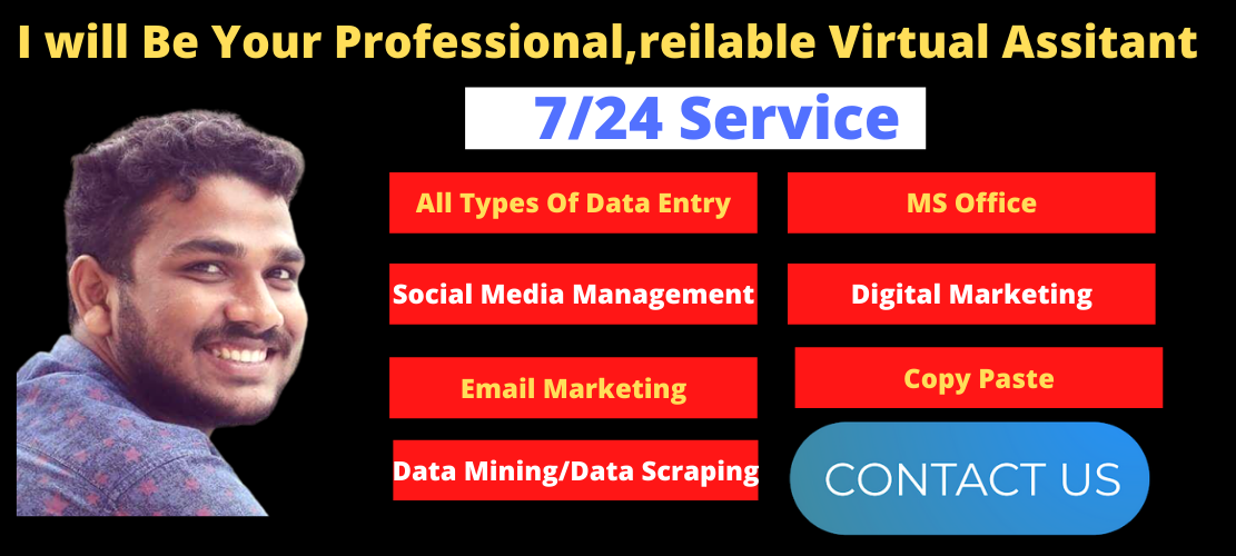 I will Be Your Professional, reilable Virtual Assistant