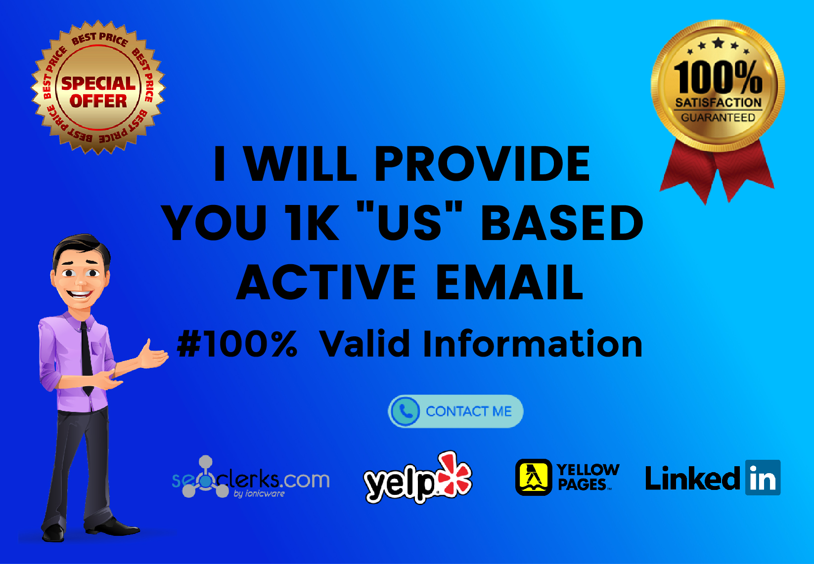 I will provide you hundred percent verified 1K