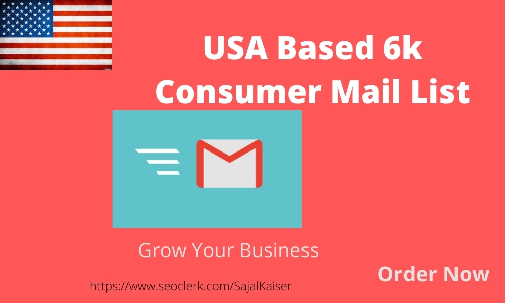I will provide 6k USA based consumer Email list