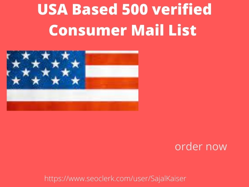 I will provide 500 USA based consumer Email list
